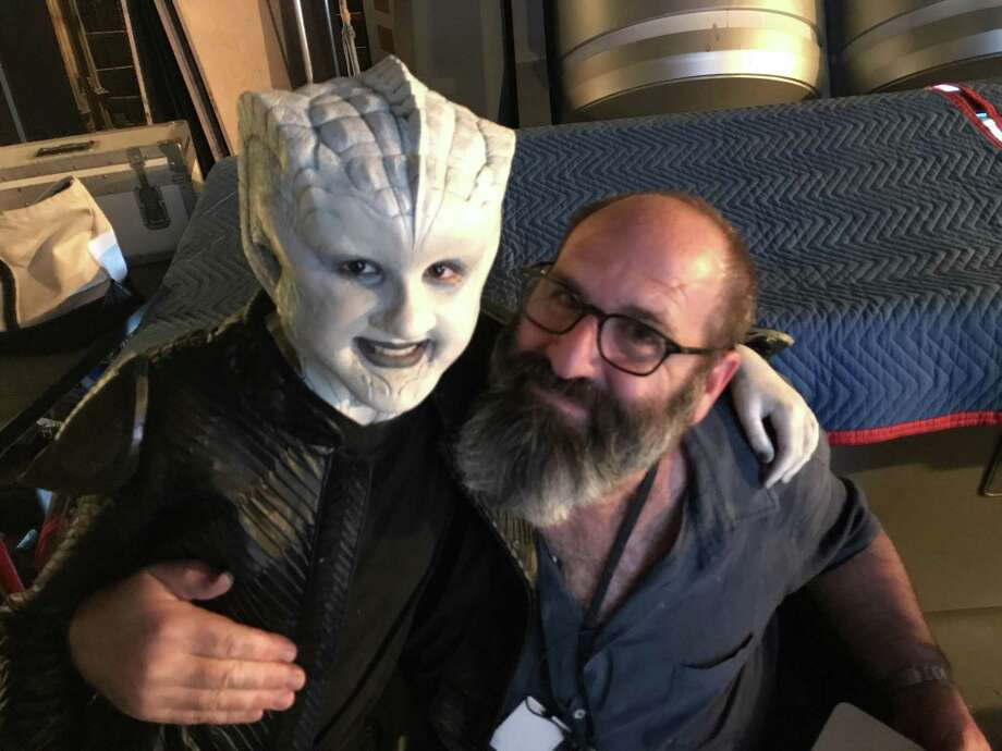 """San Antonio preteen Gabriella Graves had a blast turning into an alien, courtesy of Howard Berger, """"The Orville's"""" Emmy winning makeup artist. Photo: Courtesy Michelle Graves"""
