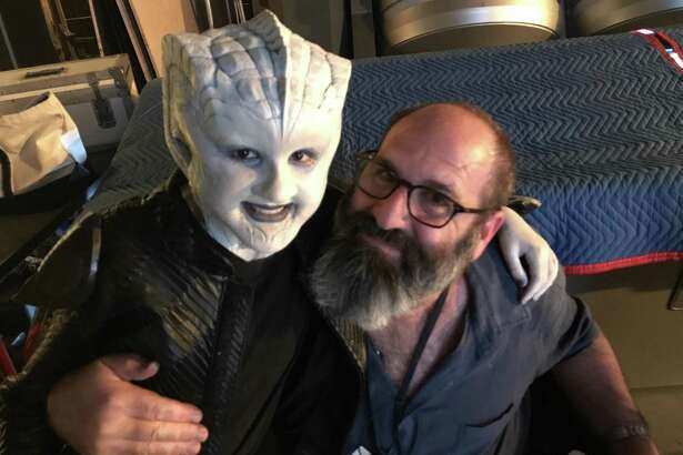 "San Antonio preteen Gabriella Graves had a blast turning into an alien, courtesy of Howard Berger, ""The Orville's"" Emmy winning makeup artist."