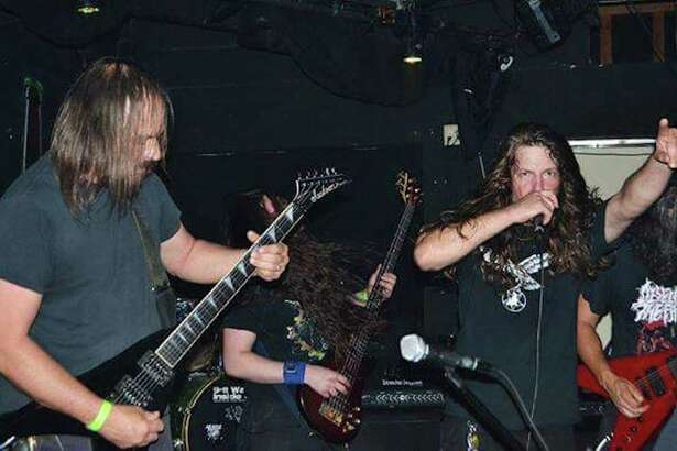 Guitarist Chris McClelland, left, and vocalist Chris Picou of metal act Entrenched Defilement. The band is one of more than a dozen metal acts that will converge on downtown Beaumont on Saturday, Oct. 21, 2017, for Frightmare Fest 2017. Courtesy photo