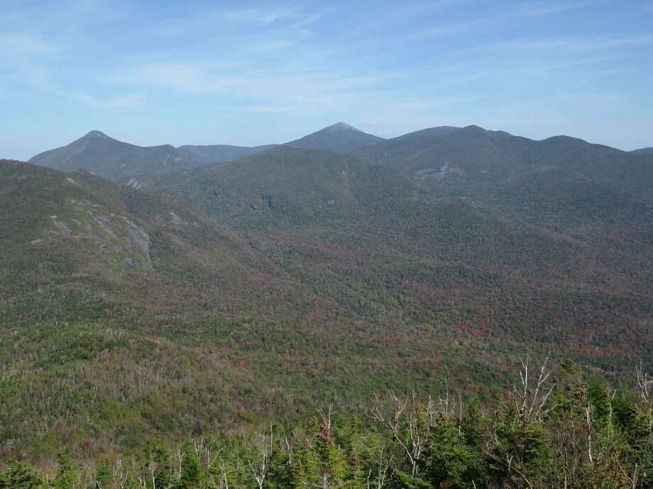 The view from the cab of the Mt. Adams firetower in the High Peaks Wilderness. (Herb Terns / Times Union)