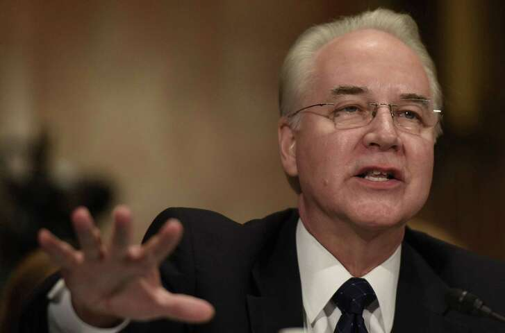 Tom Price, shown here at a confirmation hearing, was forced to resign as health and human services secretary after abusing government travel rules involving the use of private jets.