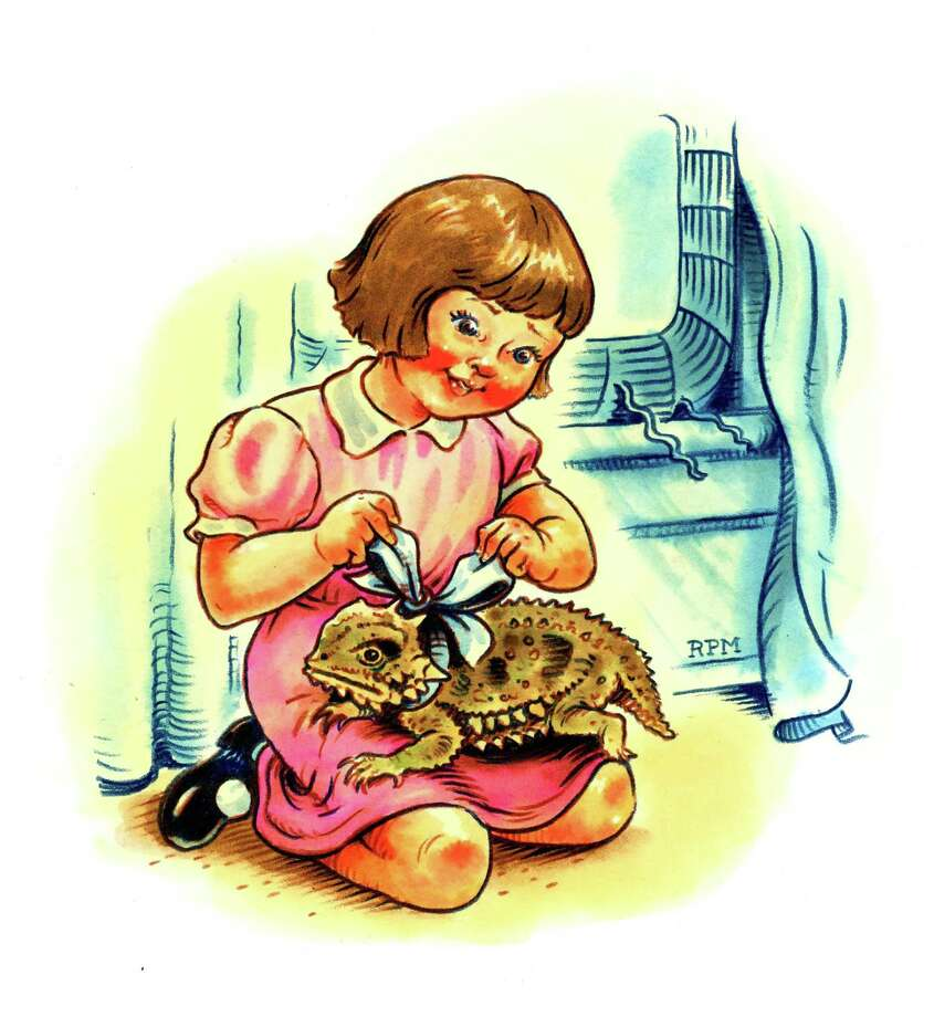 """""""The Toad Girl"""" for Texas Monthly, by Ross MacDonald.  . Photo: Western Connecticut State University / Contributed Photo"""