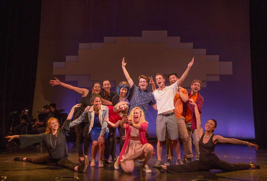 """The cast of """"South of Market: the Musical v2""""takes a selfie. Photo: Anna Gravilov"""