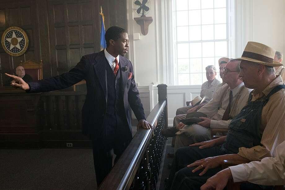 "Chadwick Boseman in ""Marshall"" (2017) photo: Barry Wetcher"