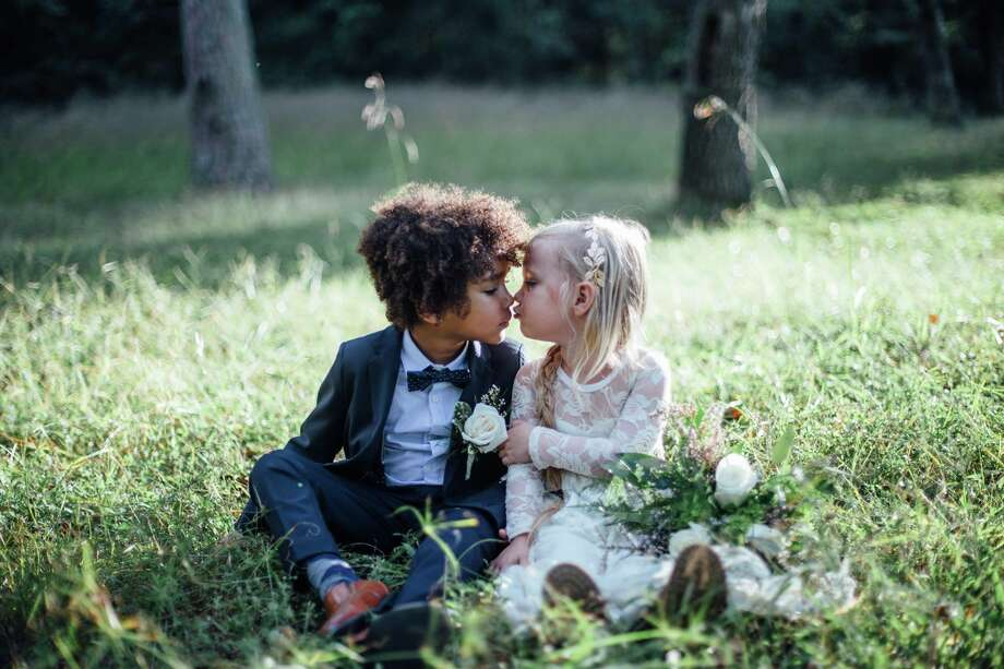 A 'mini-wedding' photoshoot byBreana Marie Photography and Wolf & Rose PhotographySee more photos of the kid-sized wedding. Photo: Breana Marie Photography