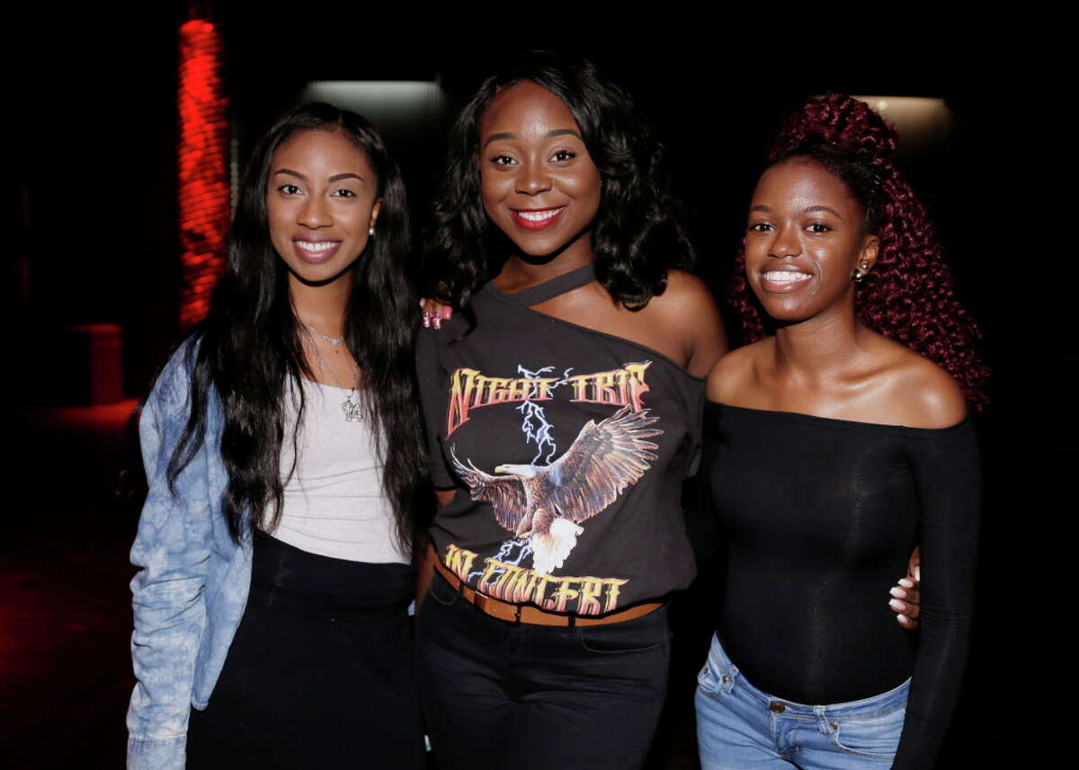Fansattending the Lecrae concert at the Revention Music Hall in Houston, TX, Oct. 12, 2017. (Michael Wyke / For the Chronicle)