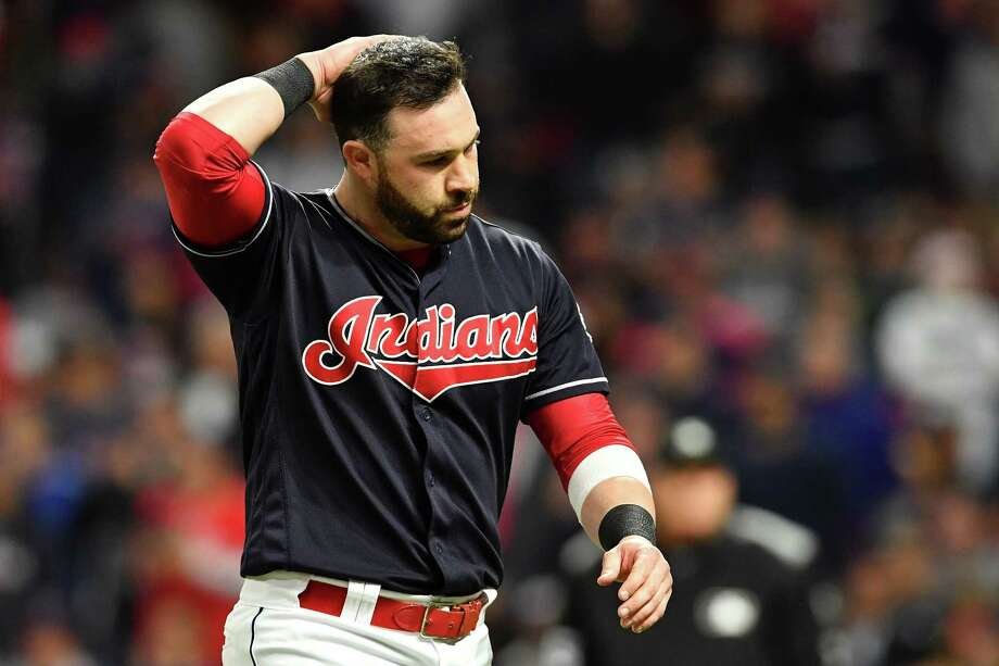 CLEVELAND, OH - OCTOBER 11:  Jason Kipnis #22 of the Cleveland Indians reacts after striking out to end the eighth inning against the New York Yankees in Game Five of the American League Divisional Series at Progressive Field on October 11, 2017 in Cleveland, Ohio.  (Photo by Jason Miller/Getty Images) ORG XMIT: 775053732 Photo: Jason Miller / 2017 Getty Images