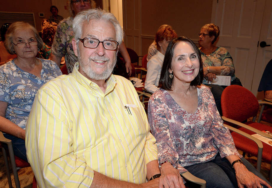 David and Telisa Derosier were at the medical mysteries lecture by Mutter Museum educator Marcy Engleman at the McFaddin - Ward House Visitor Center Thursday. Engleman offered the audience a virtual tour of the Philadelphia-based museum's collection of medical anomalies, mysteries, and other macabre exhibit highlights, including a sample of Einstein's brain. The event is part of the McFaddin - Ward Museum's annual lecture series. Photo taken Thursday, October 12, 2017 Kim Brent/The Enterprise Photo: Kim Brent / BEN
