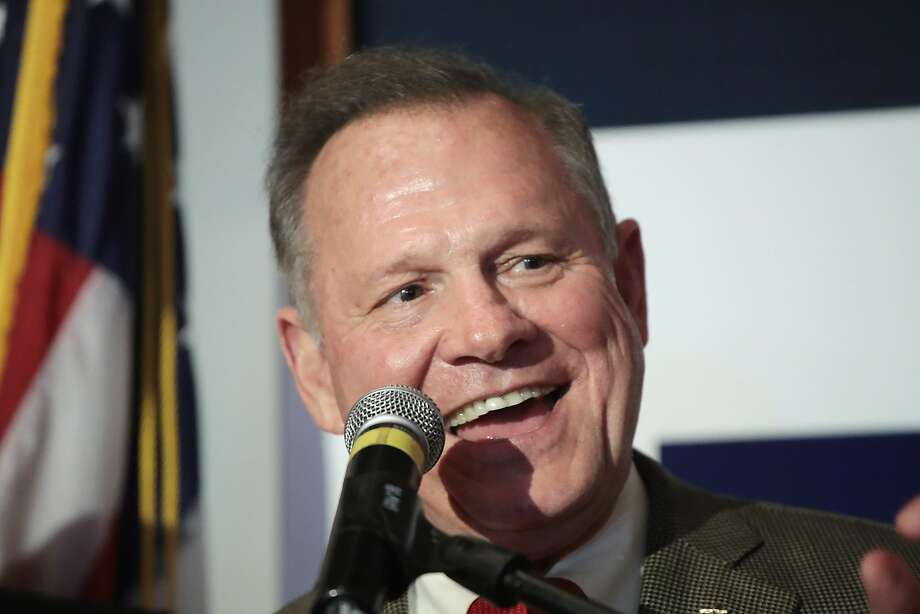 Republican candidate for the U.S. Senate in Alabama, Roy Moore speaks to supporters at an election-night rally on September 26, 2017 in Montgomery, Alabama. Moore, former chief justice of the Alabama supreme court, defeated incumbent Sen. Luther Strange (R-AL) in a primary runoff election for the seat vacated when Jeff Sessions was appointed U.S. Attorney General by President Donald Trump. Moore will now face Democratic candidate Doug Jones in the general election in December. Photo: Scott Olson, Getty Images