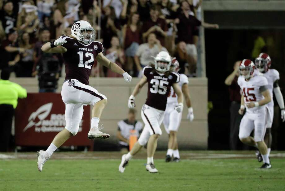 Texas A&M's Cullen Gillaspia has set himself apart as a leader among his teammates as the special teams captain. Photo: David J. Phillip, STF / Copyright 2017 The Associated Press. All rights reserved.