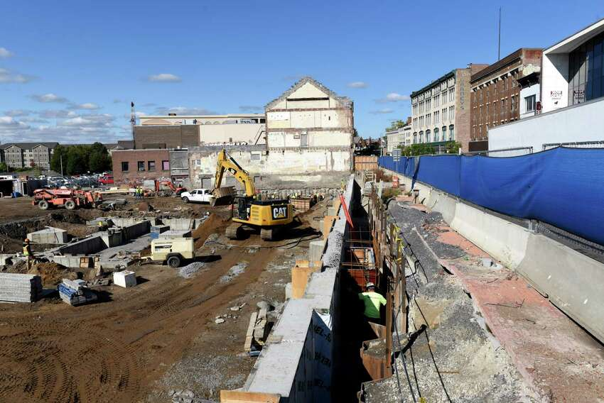 Construction site at the corner of State Street and Erie Boulevard on Thursday, Oct. 12, 2017, in Schenectady, N.Y. (Will Waldron/Times Union)