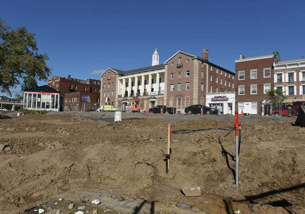 Construction site at the corner of South Church, State Street on Thursday, Oct. 12, 2017, in Schenectady, N.Y. (Will Waldron/Times Union)
