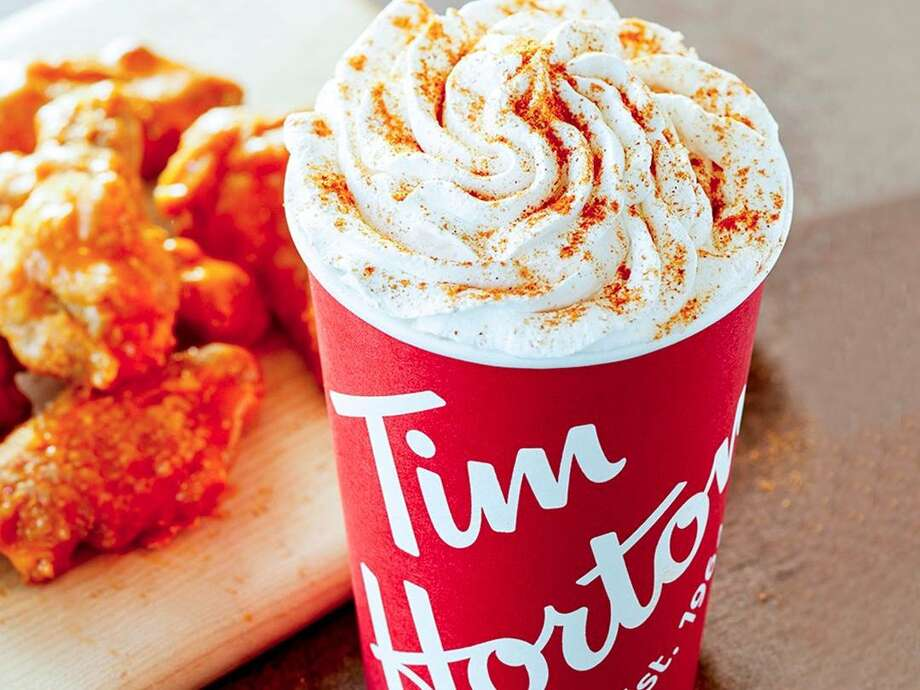 The Buffalo Latte starts at $2.79 and will be served while supplies last. Photo: Tim Hortons