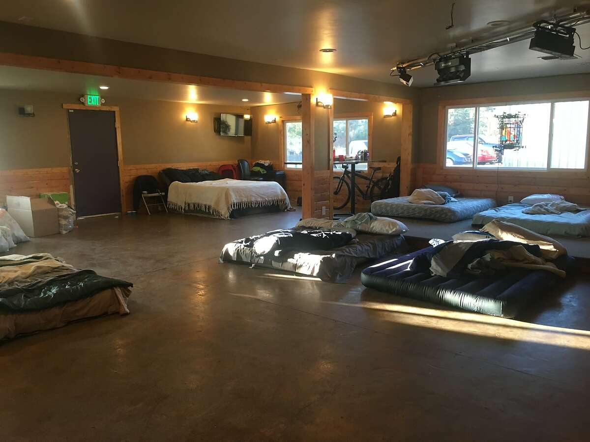 McCarty's Bar in Redwood Valley in Mendocino County, where supplies are being dropped off for people driven from their homes by the Redwood Fire that has burned more than 30,000 acres north of Ukiah. Some evacuees are even sleeping at McCarty's after it closes for the night.