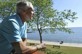 New Haven, Connecticut - Monday, September 15, 2017: Ed Vescovi of Branford competed in the Lake Placid Ironman Triathlon in July and finished 3rd in the 55-59 age group and secured a spot in the Ironman World Championships in Hawaii in October. A motivation for competing is to bring awareness to Adrenoleukodystrophy.