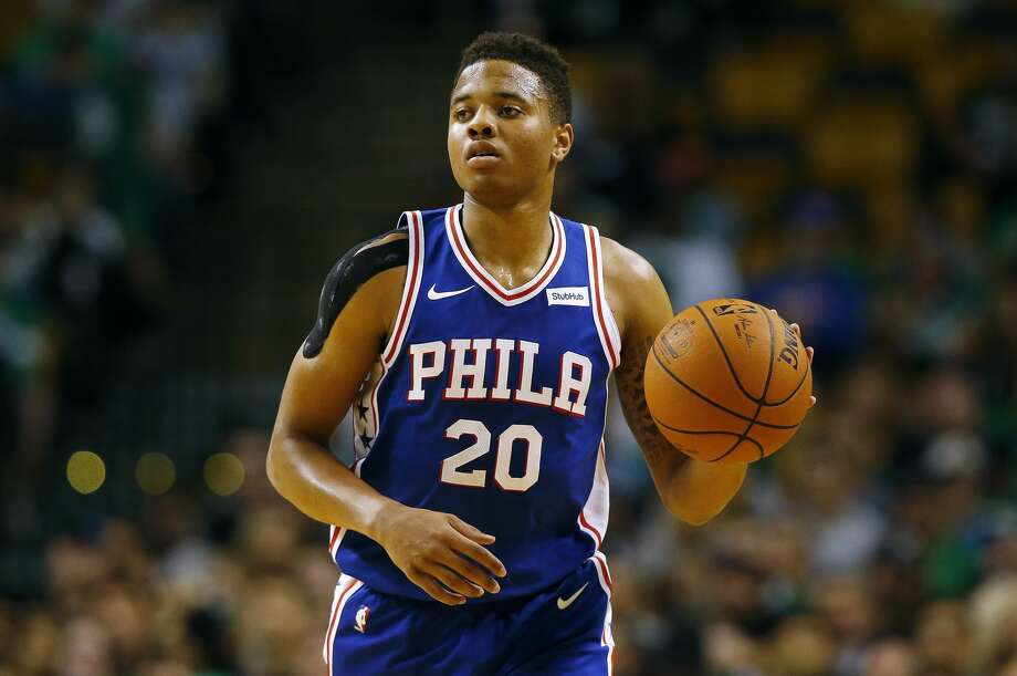Philadelphia 76ers guard Markelle Fultz during the first quarter of a preseason NBA basketball game against the Boston Celtics in Boston Monday, Oct. 9, 2017. (AP Photo/Winslow Townson) Photo: Winslow Townson/Associated Press