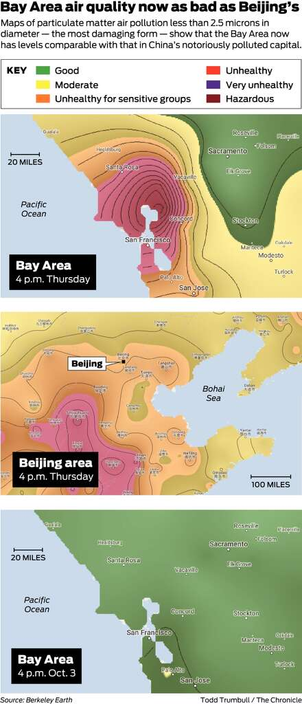 Wine Country fires smoke fouls Bay Area air creates health