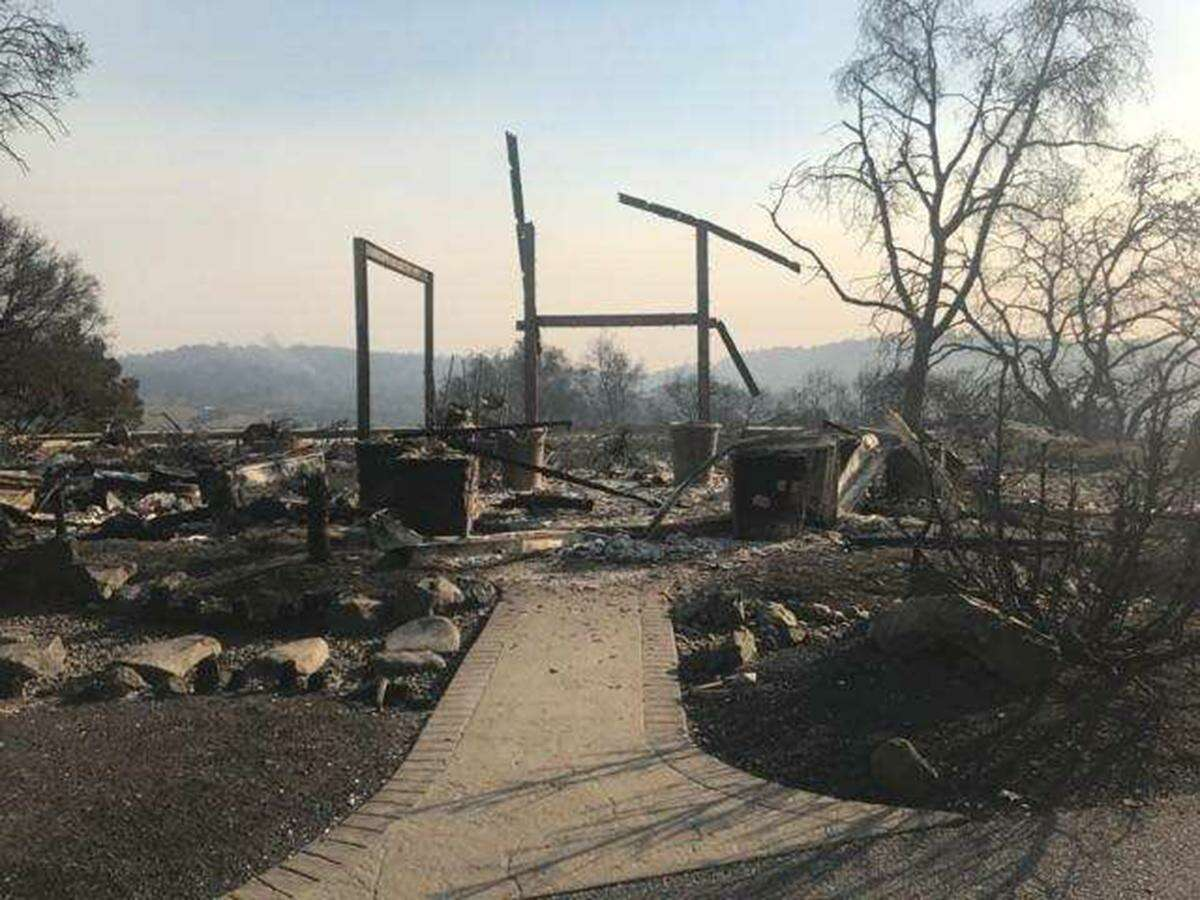 This is what's left of the home that Armando and Carmen Berriz had rented in Santa Rosa.