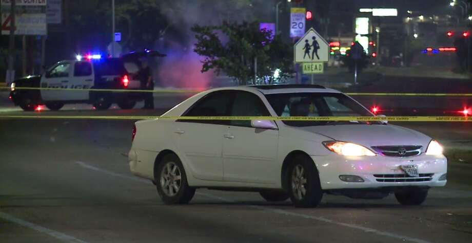 One person was killed and another may be injured after shots were fired early Friday in west Houston. (Metro Video) Photo: Metro Video