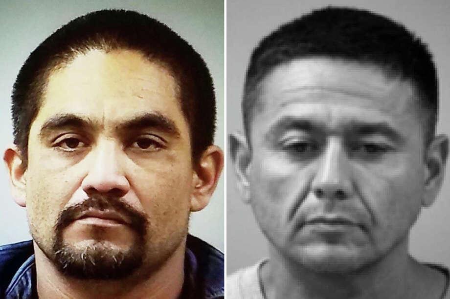 "The Laredo Police Department's auto-theft task force said they need the community's assistance to locate Jorge ""Pelon"" Lopez, 39, of Natalia, and Ramon ""Mon"" Mendoza Jr., 44, of San Antonio. Photo: Courtesy"
