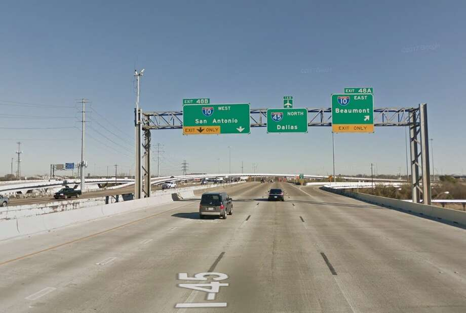 Drivers headed northbound on Interstate 45 through downtown Houston this weekend will be diverted to Interstate 10 west and then the 610 Loop to get around a road closure. PHOTOS: These are the most-hated intersections in the Houston area Photo: Google Earth
