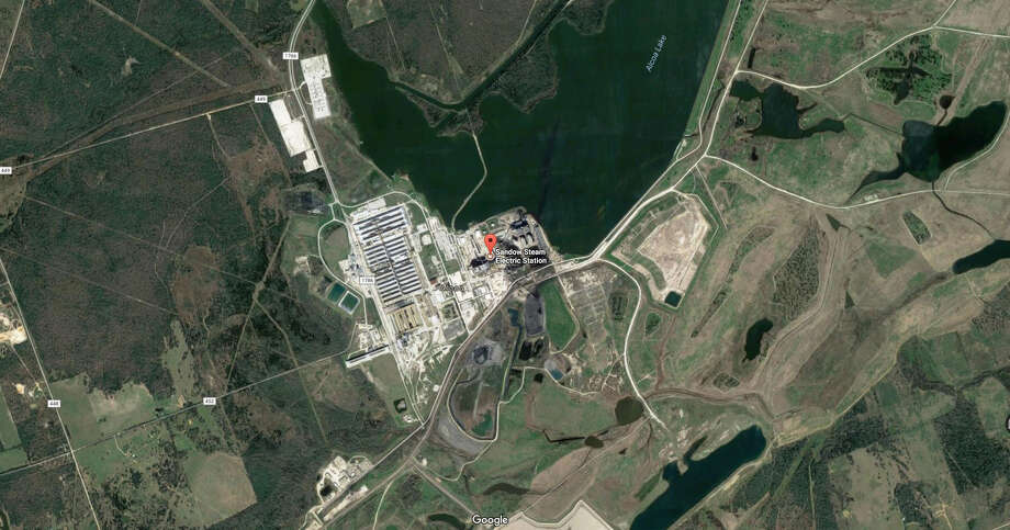 A screenshot of a Google Maps image of the Sandow Power Plant in Milam County, Texas. On Oct. 13, 2017, Dallas-based Vistra Energy announced it shut down this plant and the Big Brown Power Plant in Freestone County and lay off hundreds of workers. Photo: File/Google