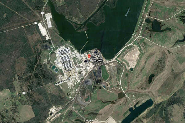 A screenshot of a Google Maps image of the Sandow Power Plant in Milam County, Texas. On Oct. 13, 2017, Dallas-based Vistra Energy announced it shut down this plant and the Big Brown Power Plant in Freestone County and lay off hundreds of workers.