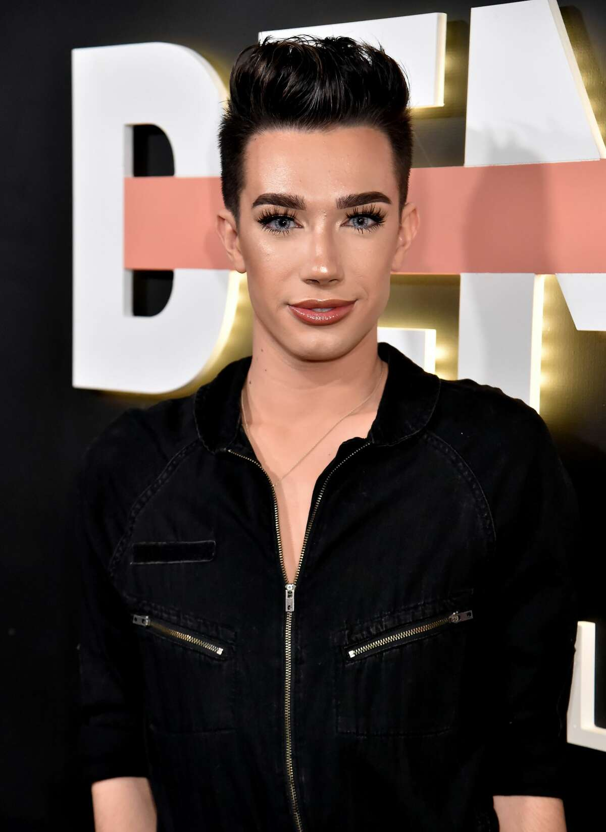 """LOS ANGELES, CA - OCTOBER 11: James Charles attends the """"Demi Lovato: Simply Complicated"""" YouTube premiere at The Fonda Theatre on October 11, 2017 in Los Angeles, California. (Photo by Jeff Kravitz/FilmMagic for YouTube)"""