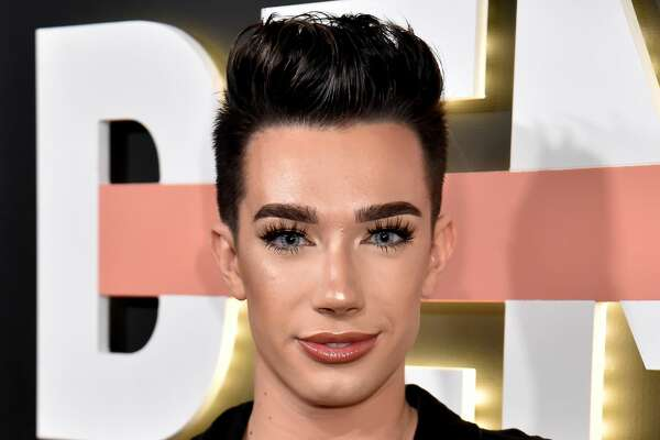 "LOS ANGELES, CA - OCTOBER 11: James Charles attends the ""Demi Lovato: Simply Complicated"" YouTube premiere at The Fonda Theatre on October 11, 2017 in Los Angeles, California. (Photo by Jeff Kravitz/FilmMagic for YouTube)"