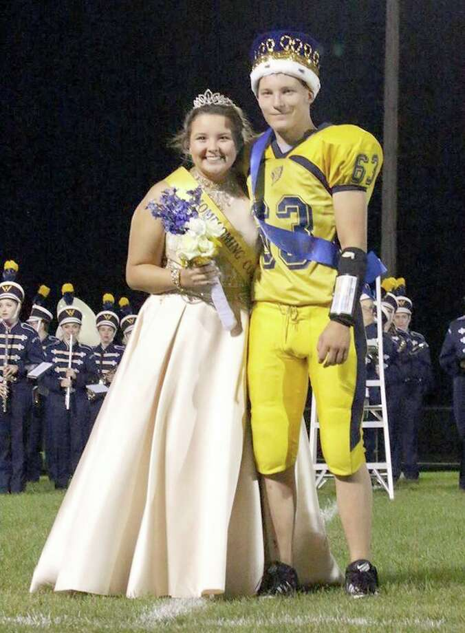 Frank Duda and Claire Pineau were crowned North Huron's Homecoming King and Queen. (Submitted Photo)