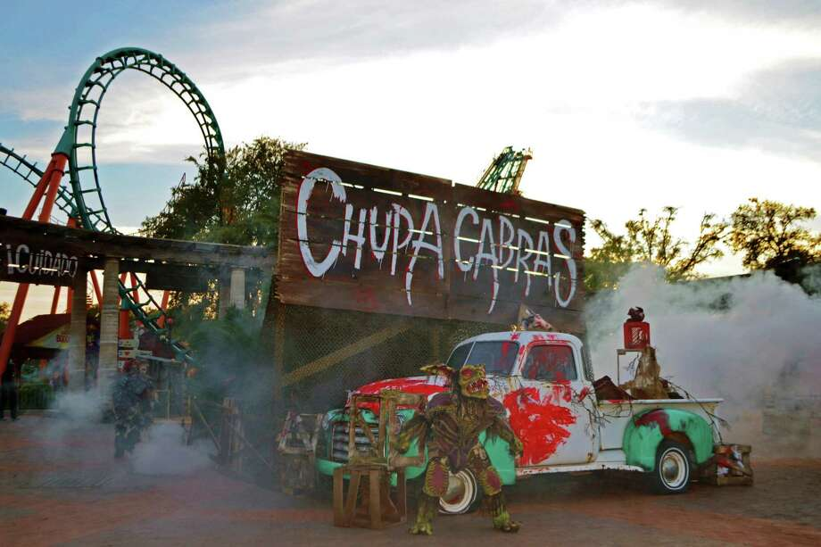 Chupacabra sights are on the rise at Fright Fest at Six Flags Fiesta Texas. Click ahead to find out where to go for Halloween-season frights in San Antonio, including haunted houses, escape rooms and ghost tours. Photo: Courtesy Six Flags Fiesta Texas