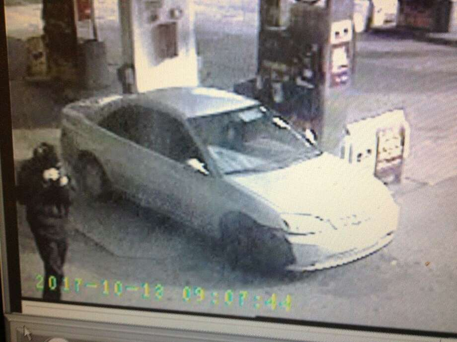 A clerk at a West Avenue gas station was robbed at knifepoint Friday morning and police are searching for two suspects who took off toward South Norwalk. Photo: Norwalk Police