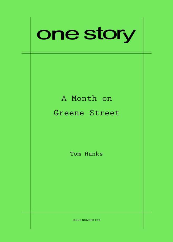 One Story: A Month on Greene Street Photo: One Story / Handout