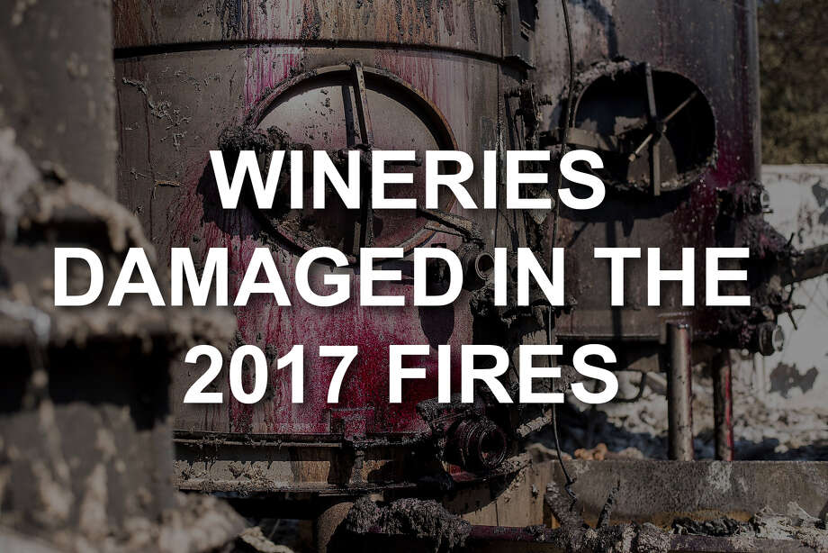 Wine coats the outside of tanks burned by the Tubbs fire at Paradise Ridge Vineyard & Winery in Santa Rosa, Calif., on Thursday, Oct. 12, 2017. Photo: Noah Berger, Special To The Chronicle