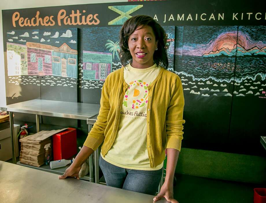 Shani Jones of Peaches Patties, a Jamaican kitchen with an outpost on Cortland Avenue, in her kitchen. Photo: John Storey, Special To The Chronicle
