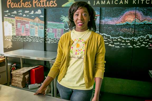 Shani Jones of Peaches Patties Jamaican Kitchen in San Francisco, Calif. is seen on October 11th, 2017.
