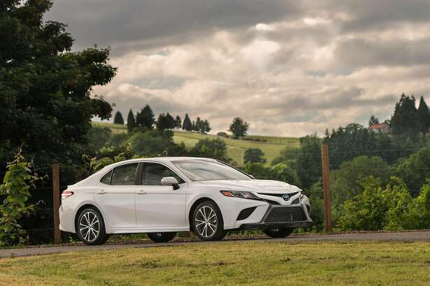 The 2018 Toyota Camry is lower, sleeker - better looking, in fact - than its predecessors, Warren Brown writes. MUST CREDIT: Toyota.