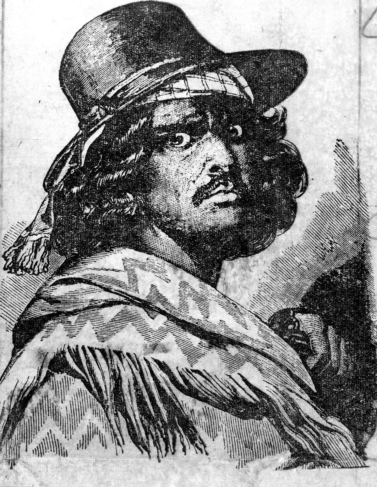 An illustration inspired by the legend of Joaquin Murieta Handout Photo ran 04/30/1980, p. 3
