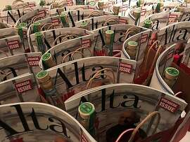 """Gift bags at party for new quarterly """"Alta"""""""