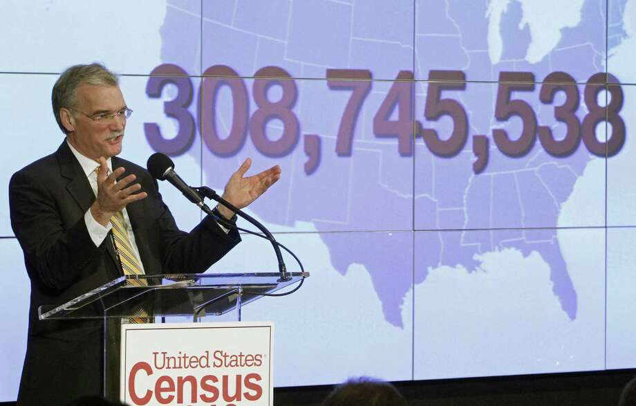 Census Bureau Director Robert Groves announces results for the 2010 U.S. Census at the National Press Club, Tuesday, Dec. 21, 2010 in Washington. (AP Photo/Jacquelyn Martin) Photo: Jacquelyn Martin / AP / Associated Press