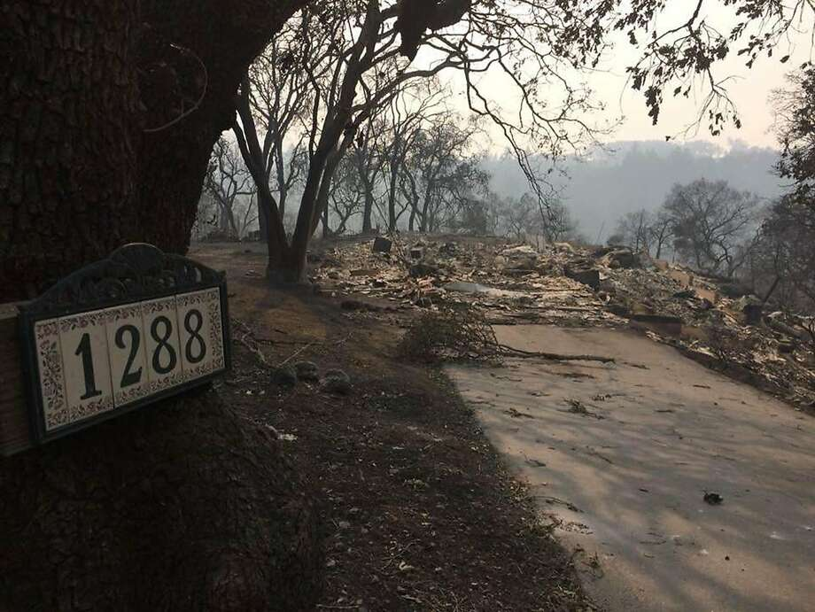 The house where Lily Hirsch grew up in Santa Rosa burned to the ground shortly after her parents were evacuated late last Sunday. Photo: Family Photo