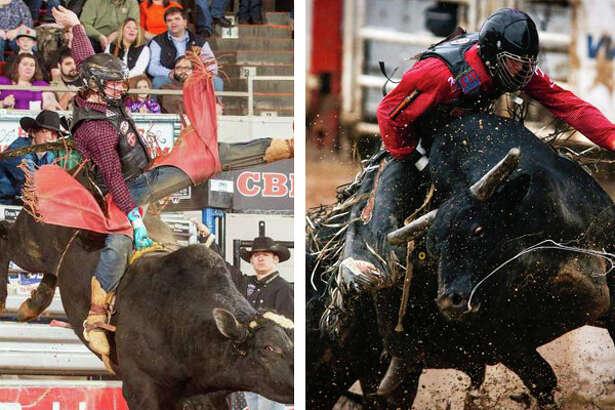 Jasper's Cooper Davis, left, and Kountze's Cody Teel. (File photos)
