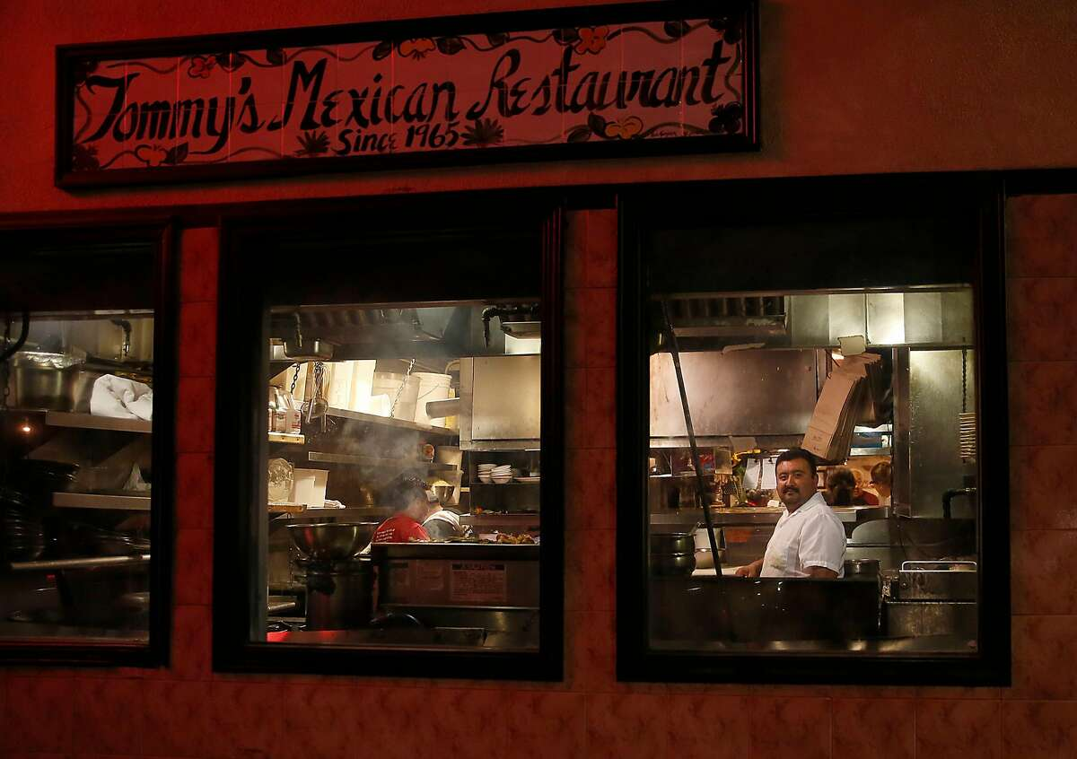 Longtime chef Rafael Granados cooks in the kitchen at Tommy's Mexican restaurant on Friday, September 29, 2017, in San Francisco, Calif.