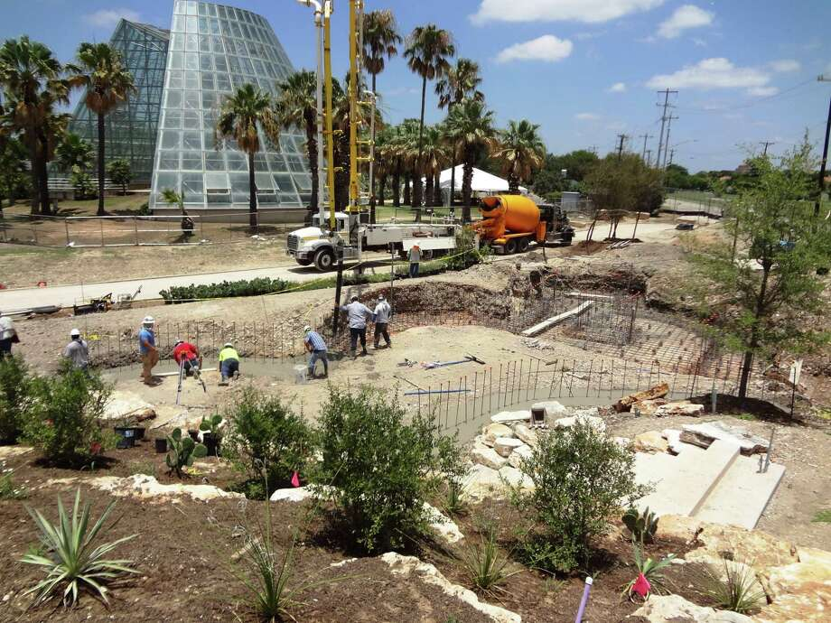 Construction continues on the new Family Adventure Garden, set to open in March 2018. Photo: Steve Bennett / San Antonio Express-News