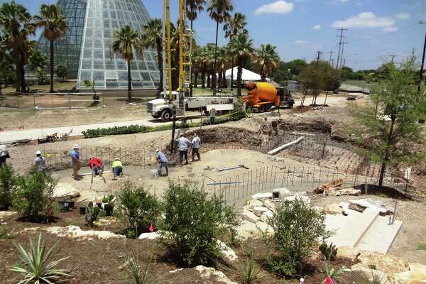Construction continues on the new Family Adventure Garden, set to open in March 2018.