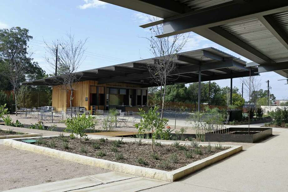The beds of vegetables, herbs and fruit in the Culinary Garden will be used for culinary classes and demonstrations at the outdoor kitchen. Photo: Jerry Lara /San Antonio Express-News / San Antonio Express-News
