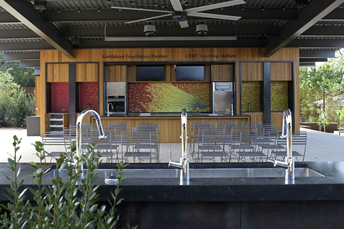 An outdoor kitchen will features farm-to-table culinary demonstrations and cooking classes.