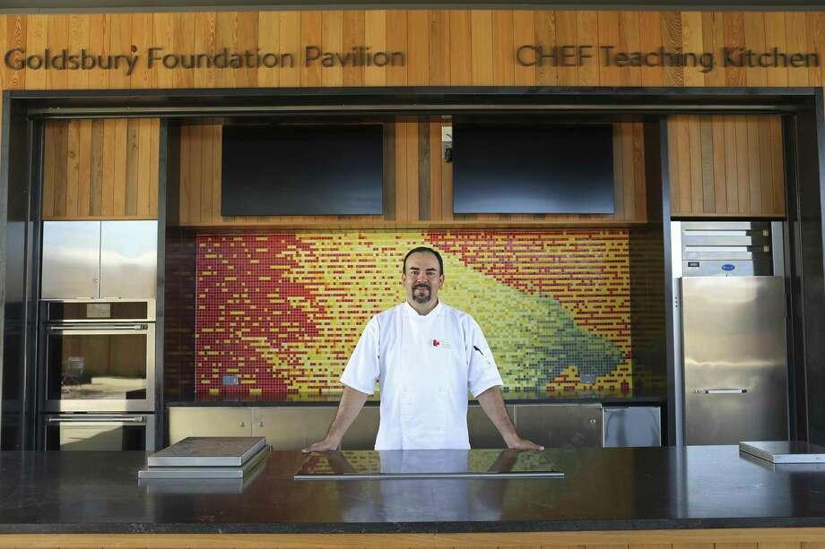 Chef Dave Terrazas is culinary and wellness program specialist for the Botanical Garden. Photo: Jerry Lara /San Antonio Express-News / San Antonio Express-News
