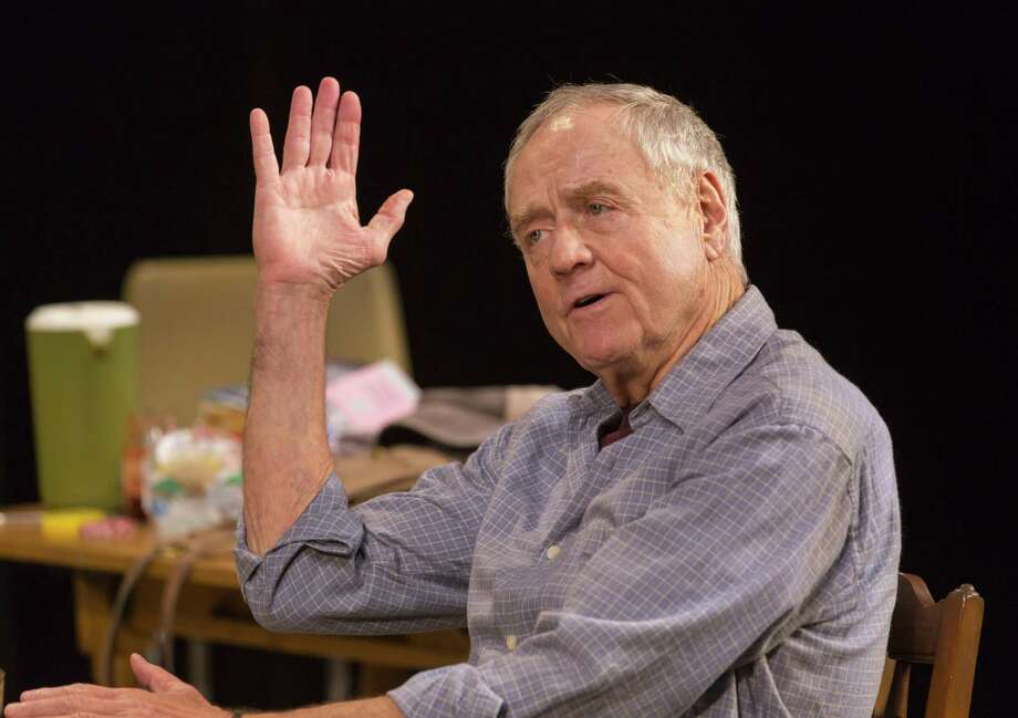 Denis Arndt makes a point in the Long Wharf show. Photo: T. Charles Erickson / Long Wharf Theatre