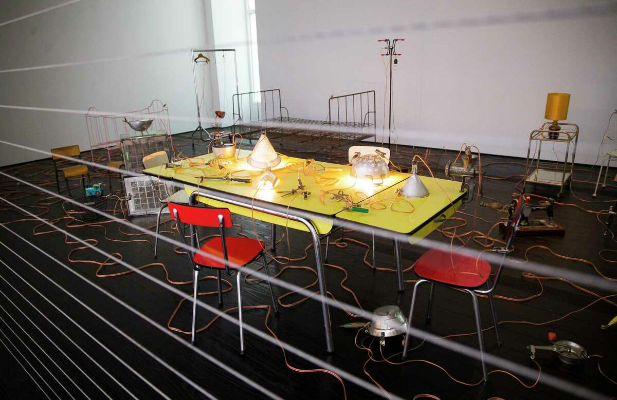 Artist Mona Hatoum's exhibition
